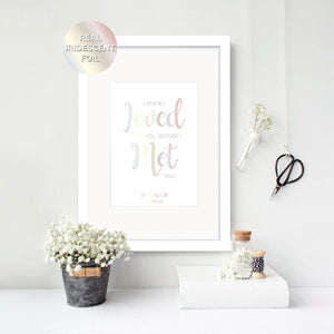 I knew I Loved You - Personalised Foil Print - Oregano Designs