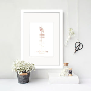 Ogham Foil Family Print - Single - Oregano Designs