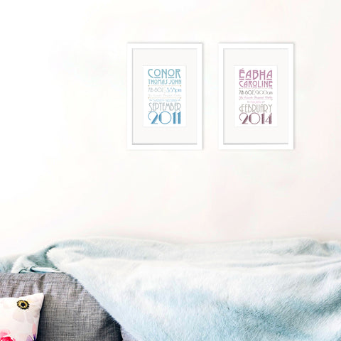 Personalised New Baby Print - Individual - Oregano Designs