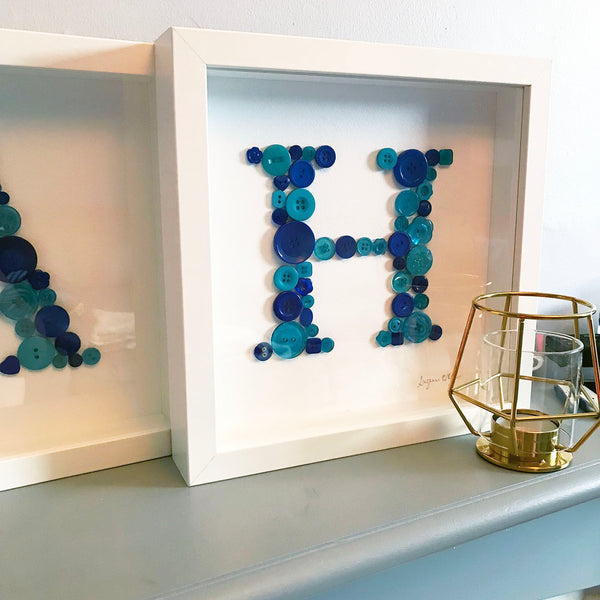 Baby Button Names - Multiple Letters Personalised Frames
