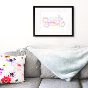 Personalised Print - Custom Shaped Word Art