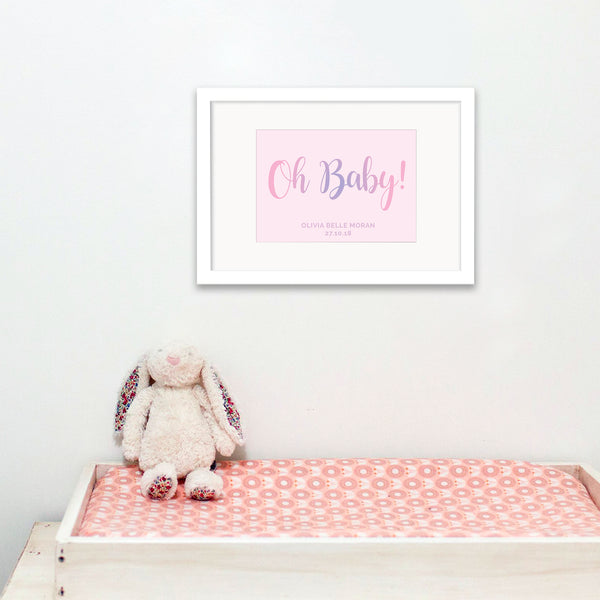 Personalised New Baby Foil Print