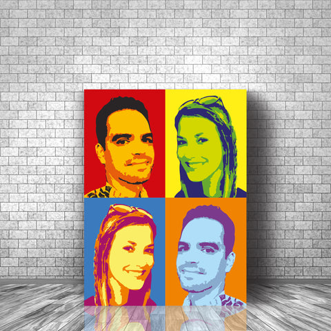 Personalised Pop Art Inspired Print - Two Images