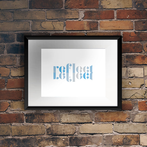 'Reflect' Reflection Foil Print - Oregano Designs