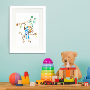 Personalised Animal Letter Illustration - Sean Monkey