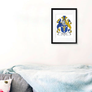 Personalised Print - Irish Family Crest Single