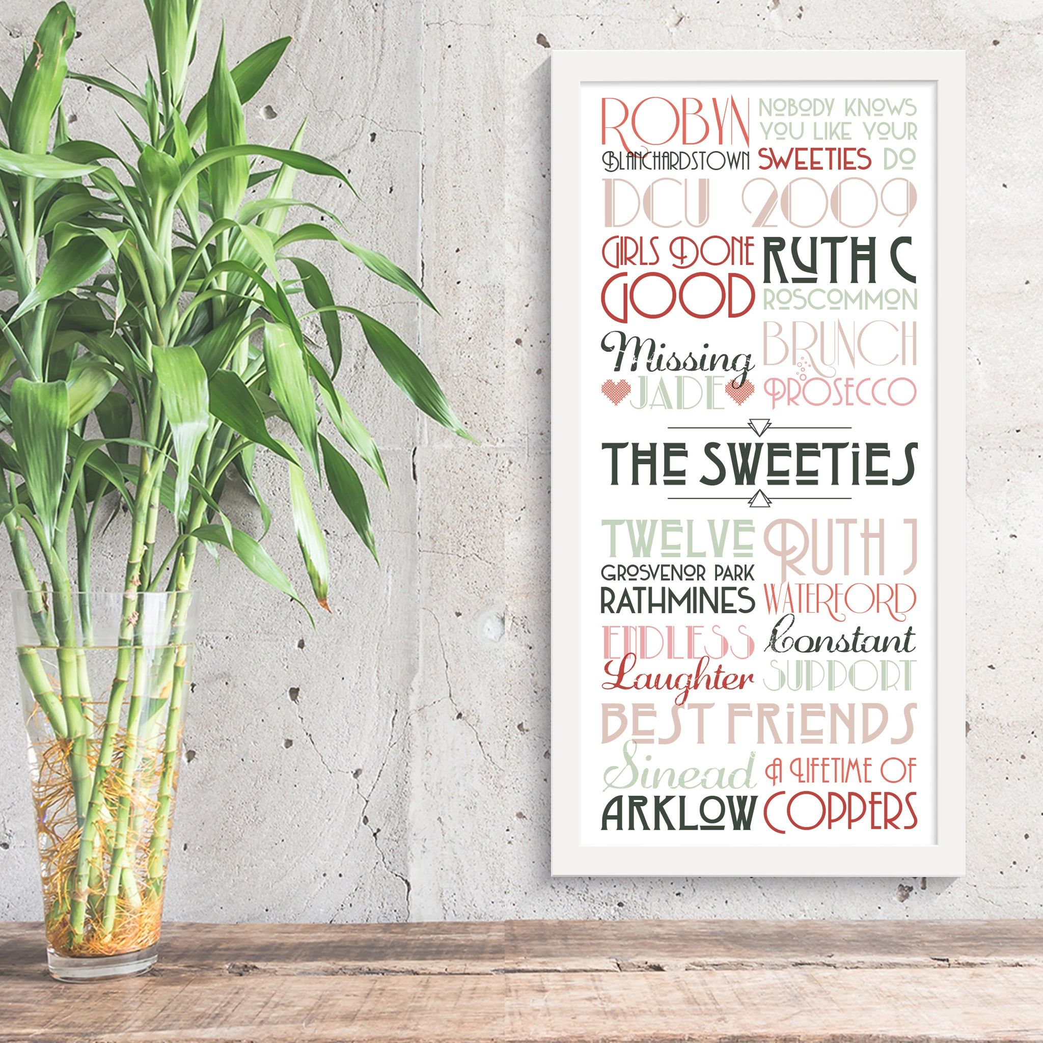 Personalised Print - Friendship Timeline - Oregano Designs