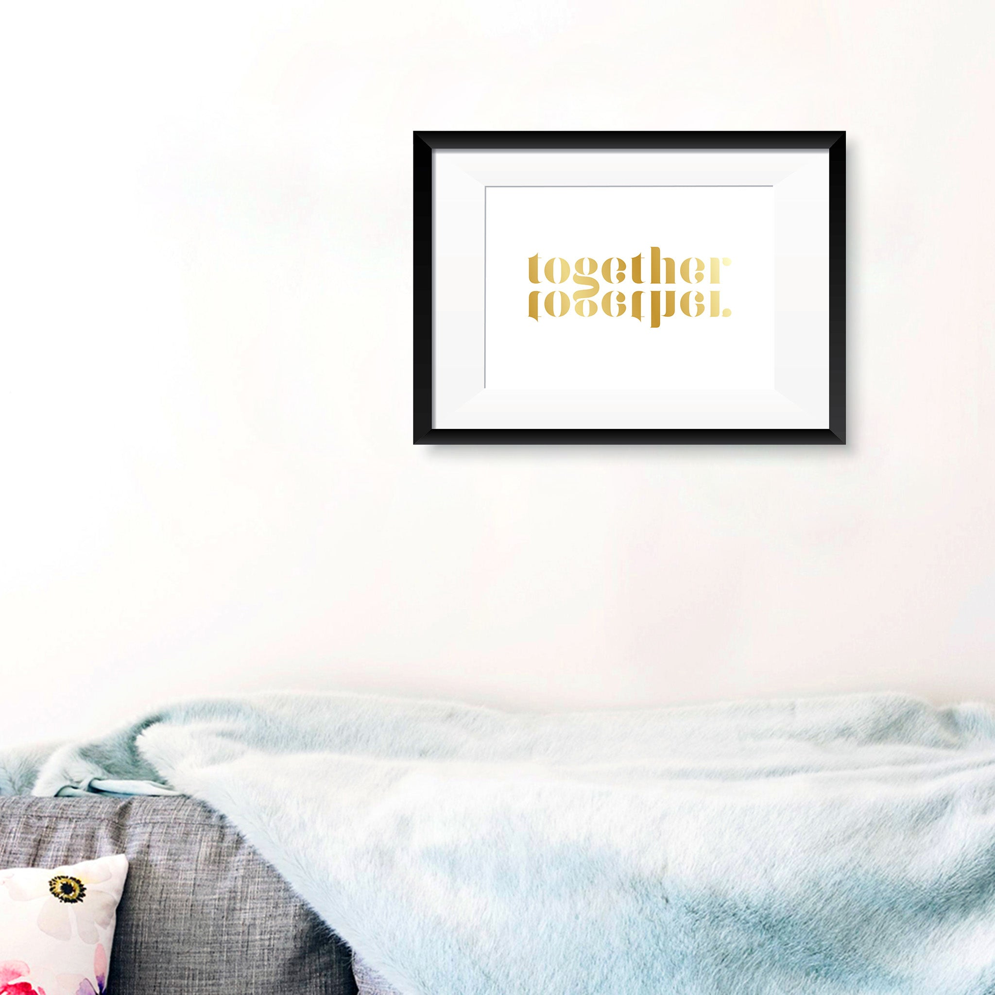'Together' Reflection Foil Print - Oregano Designs