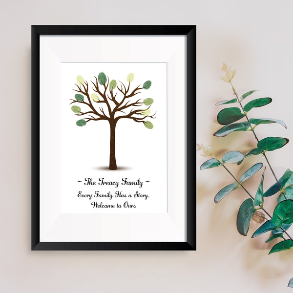 Personalised Print - Family Fingerprint Tree