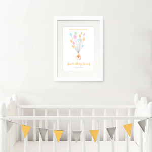Personalised Print - Baby Shower Fingerprint Gift - Oregano Designs