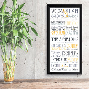 Personalised Print - Family Timeline