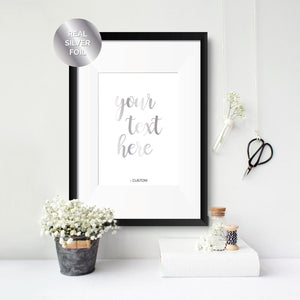 Custom Personalised Text Foil Print - Oregano Designs