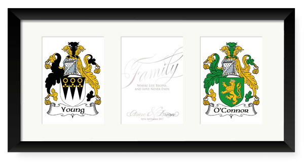 Young & O'Connor Personalised Irish Family Crest
