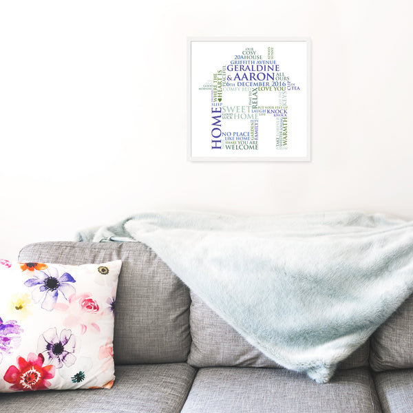 Personalised Print - New Home Word Art