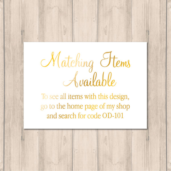Matching Items card OD-101