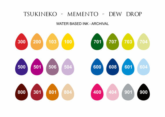 Memento ink colours
