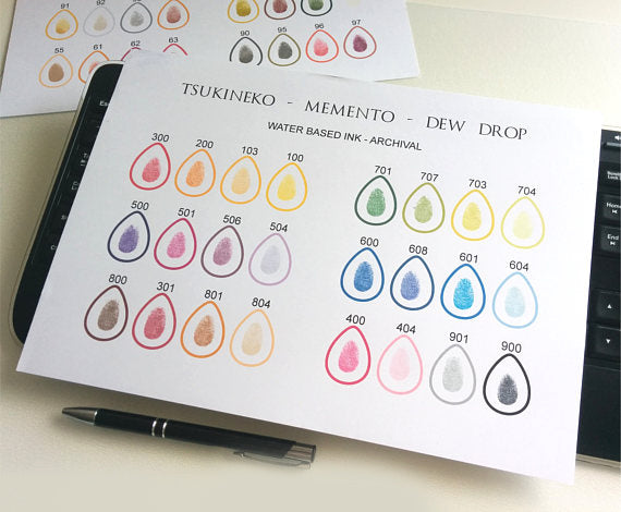 Memento ink swatches