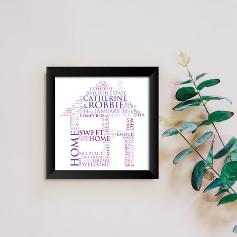 Catherine & Robbie Personalised New Home Word Art