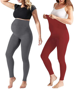 Maternity Leggings Over The Belly Activewear Gym Clothes Stretch Nursing Clothes
