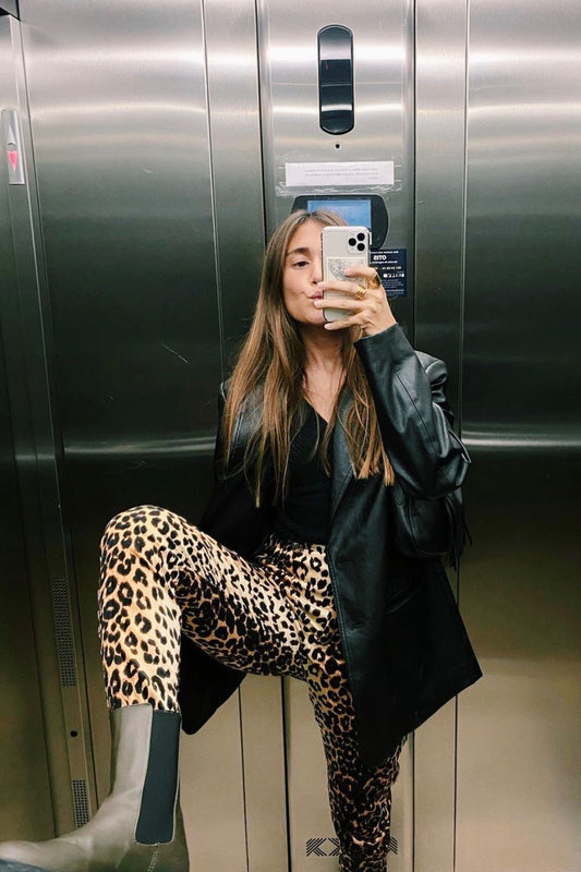 VRG GRL 90's Afterparty Pants // Leopard