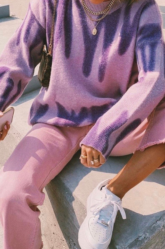Along The Sidewalk Knit // Lilac