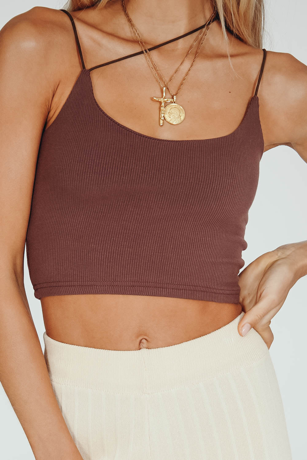 Girl Crush Ribbed Top // Chocolate