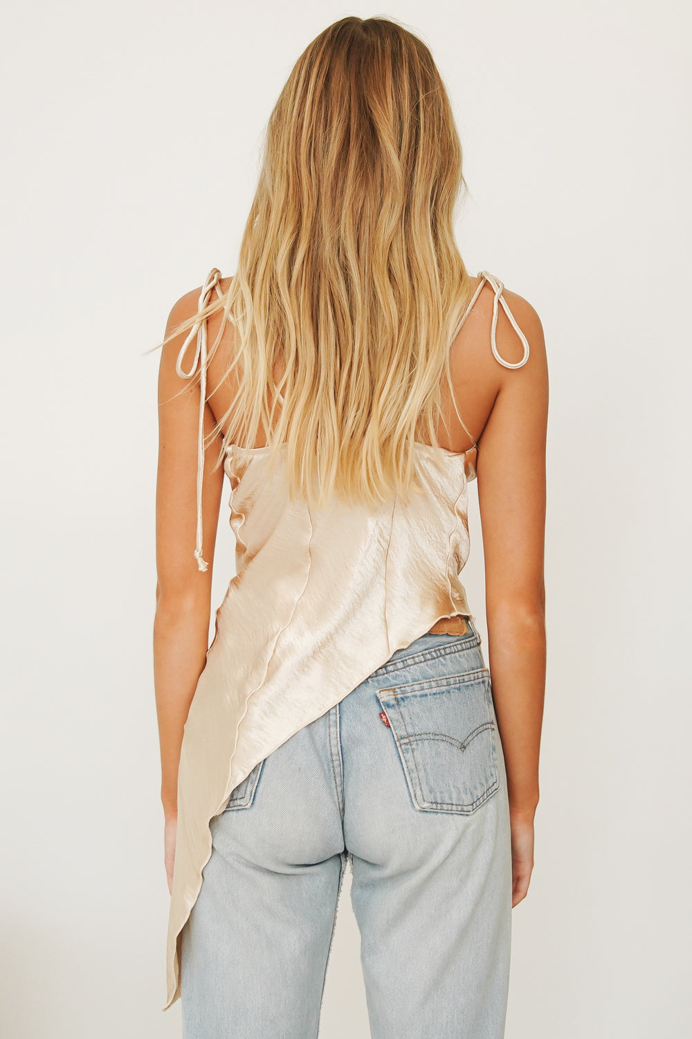 Sipping Wine Asymmetrical Top // Gold