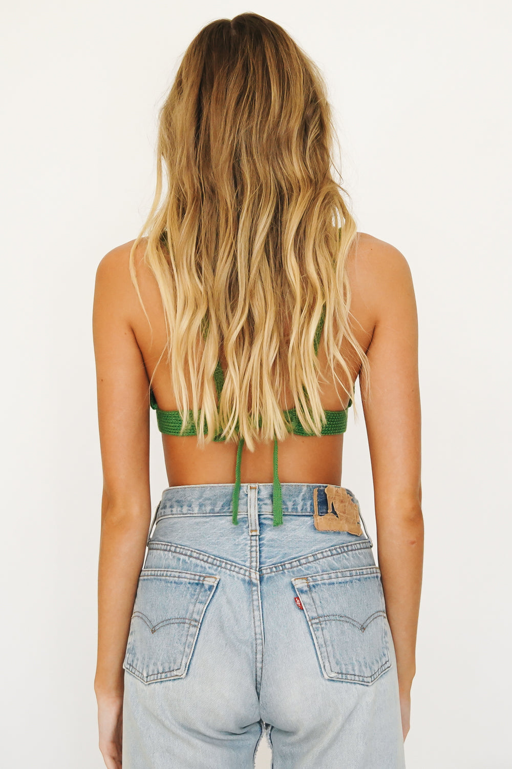 Early Mornings Knit Crop // Green
