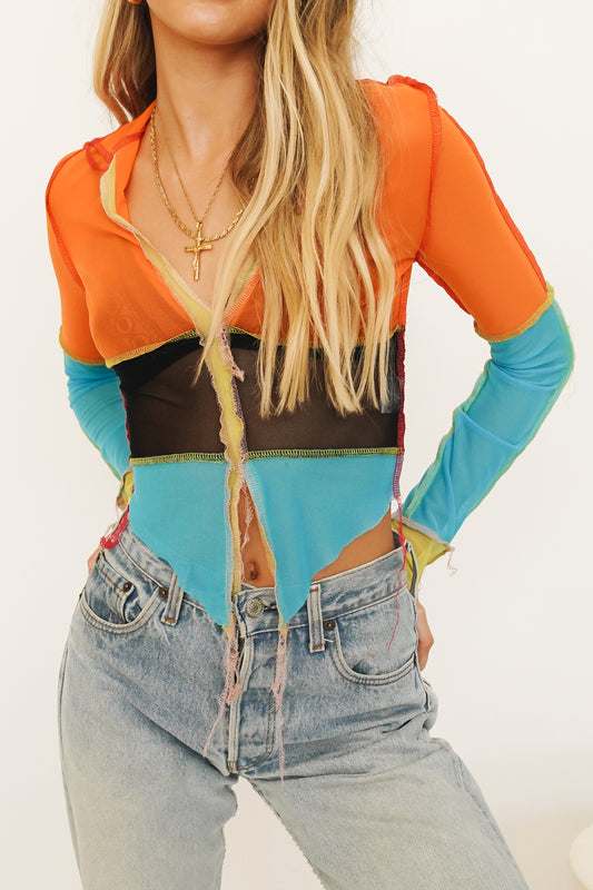 Full Colour Mesh Top // Multi