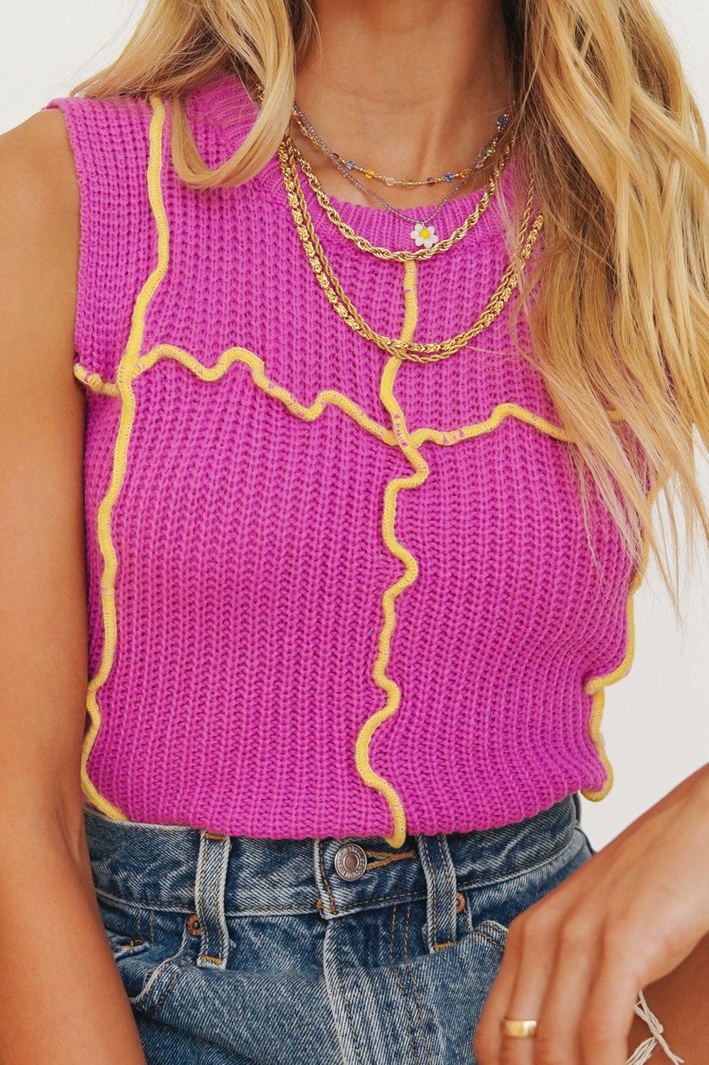 Life In Colour Knit Top // Magenta
