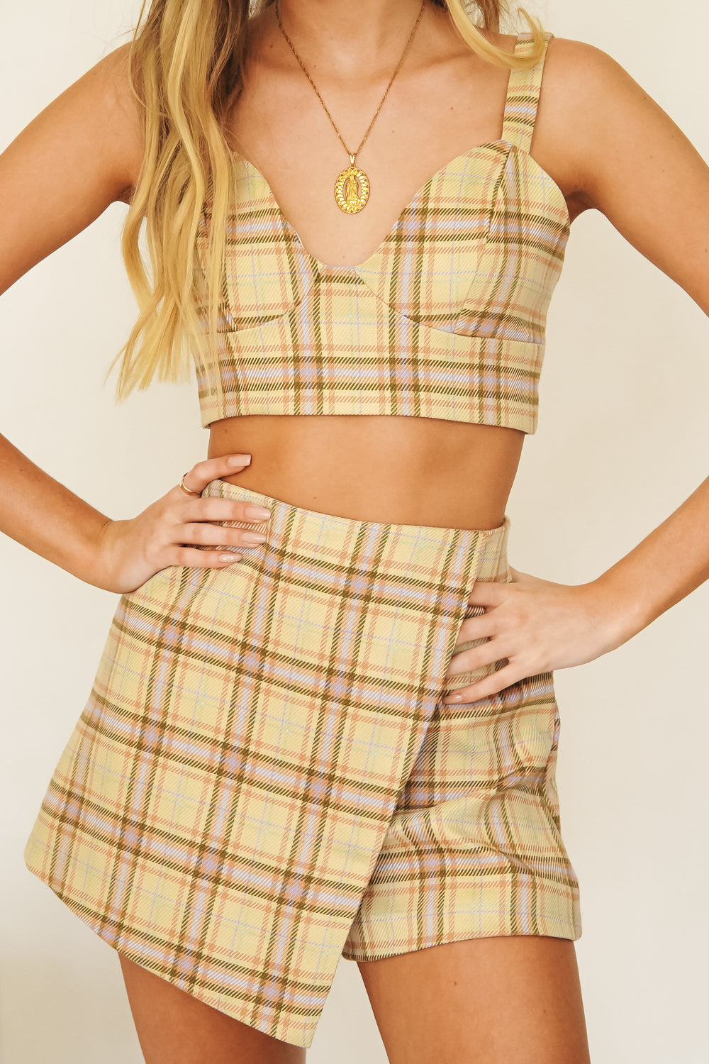 Cool Girl Summer Check Top // Sand