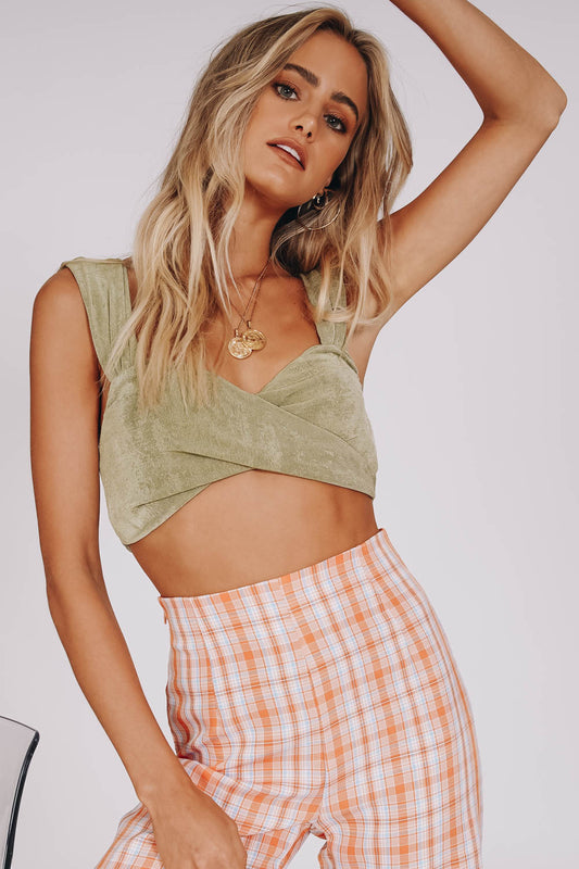 Freshly Picked Button Front Top // Tan