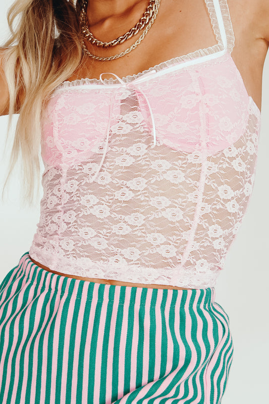 Wild Fire Lace Top // Pink
