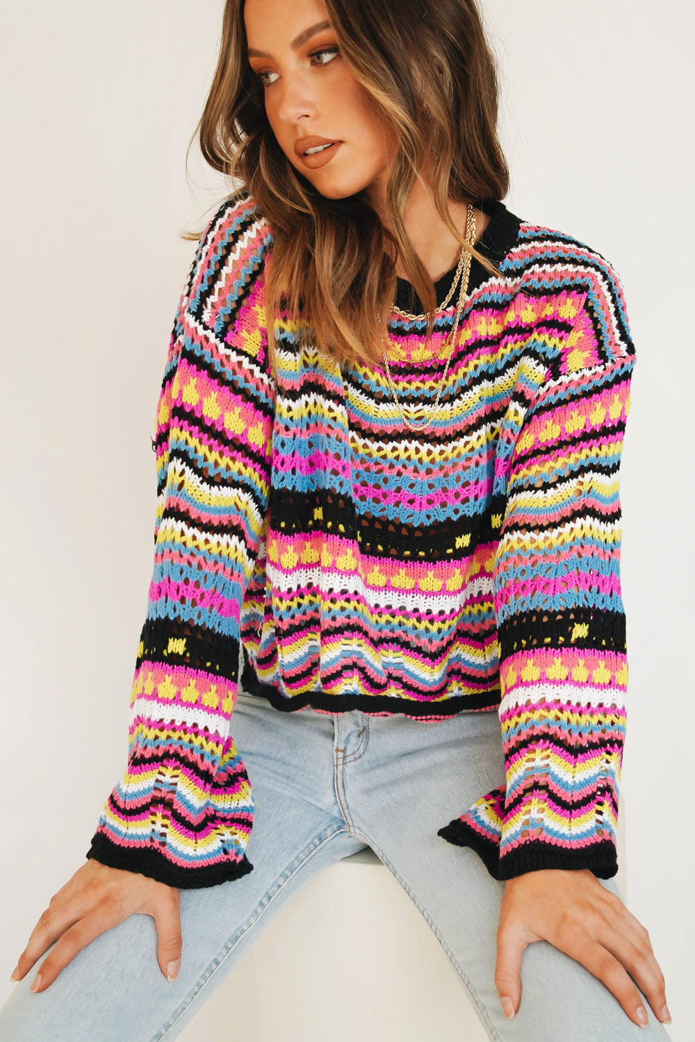 A New Direction Knit // Pink