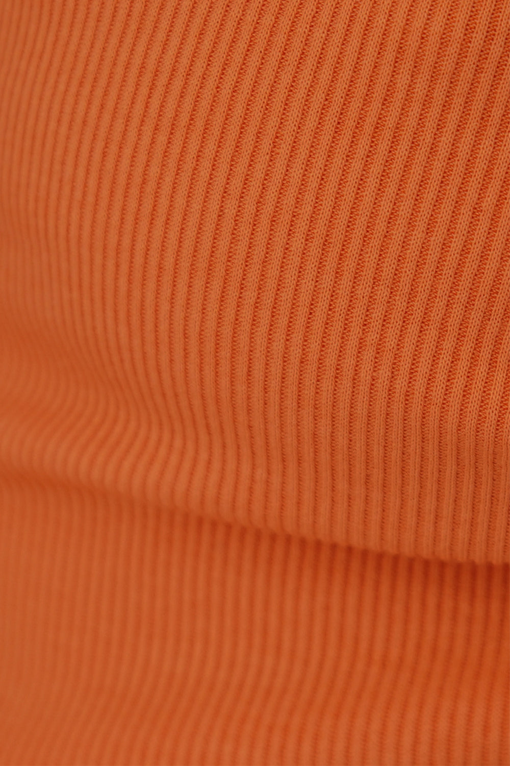 Loved By The Sun Ribbed Bodysuit // Tangerine