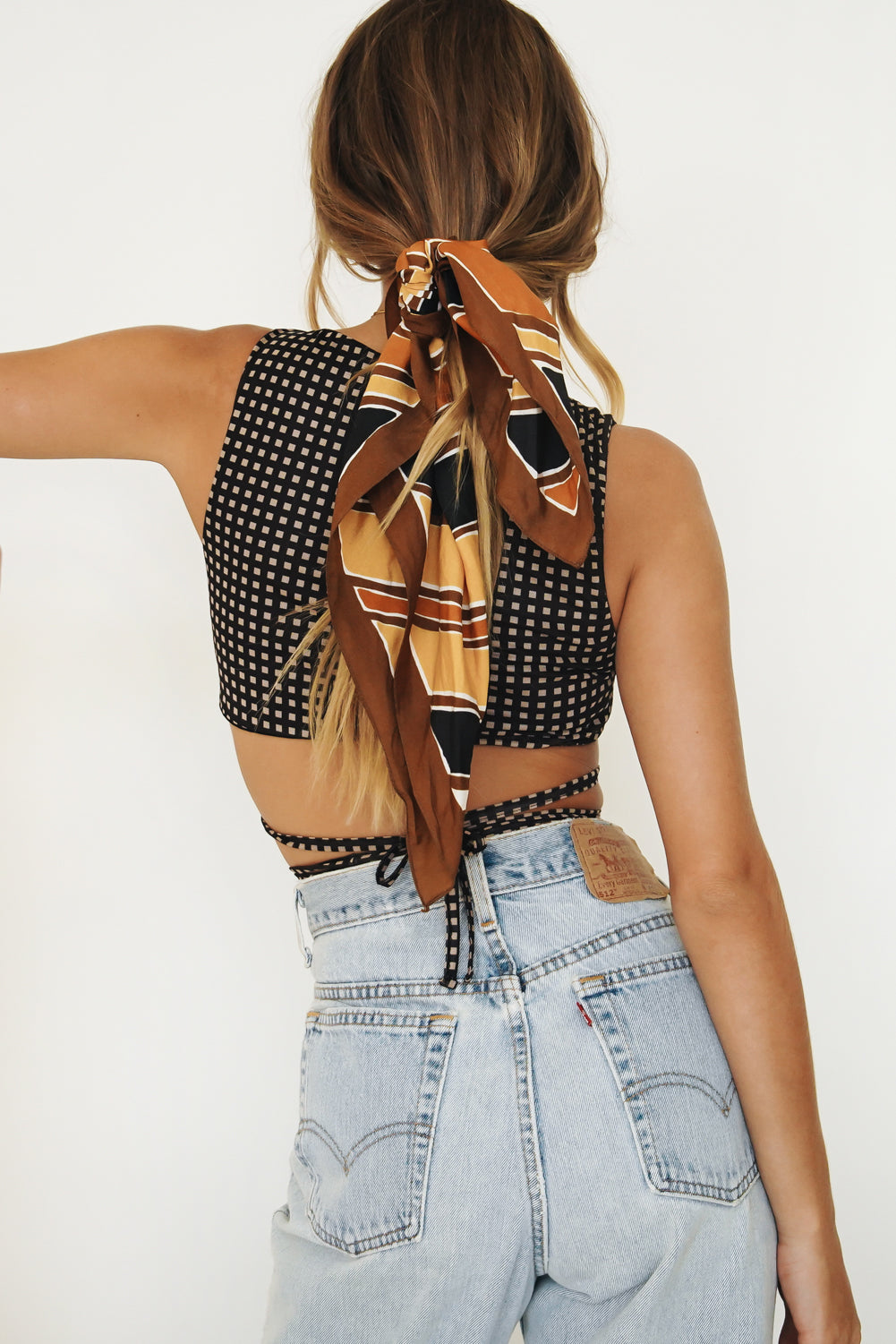 VRG GRL Fashion Film Tie Up Crop // Black