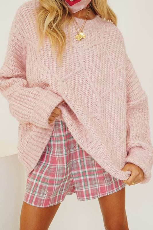 Mood Boost Knit // Baby Pink