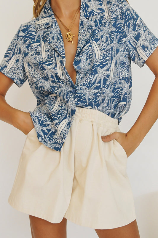 From The Beach Shirt // Blue
