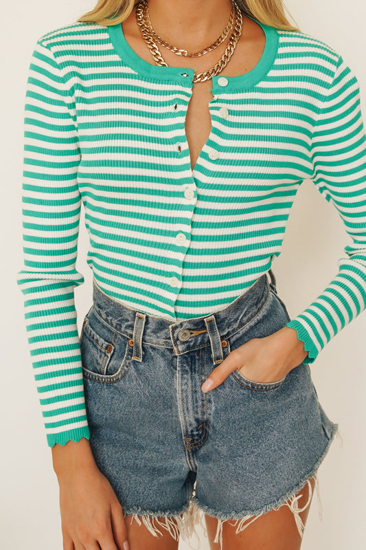 Be Cool Baby Knit Top // Green