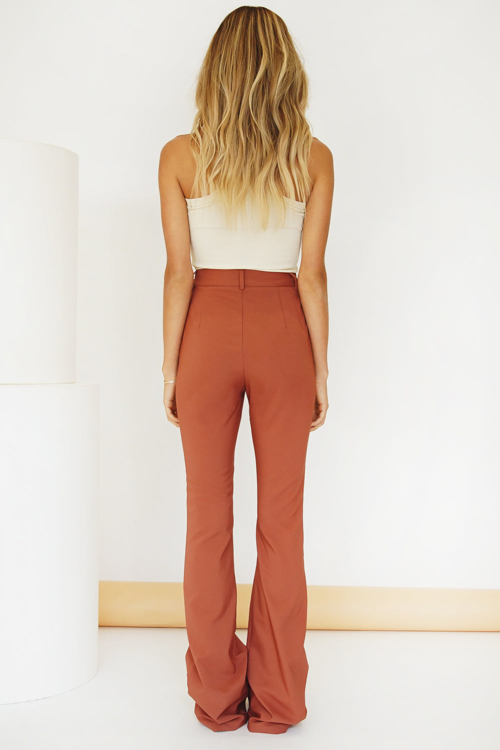 VRG GRL To The Bar Pants // Clay