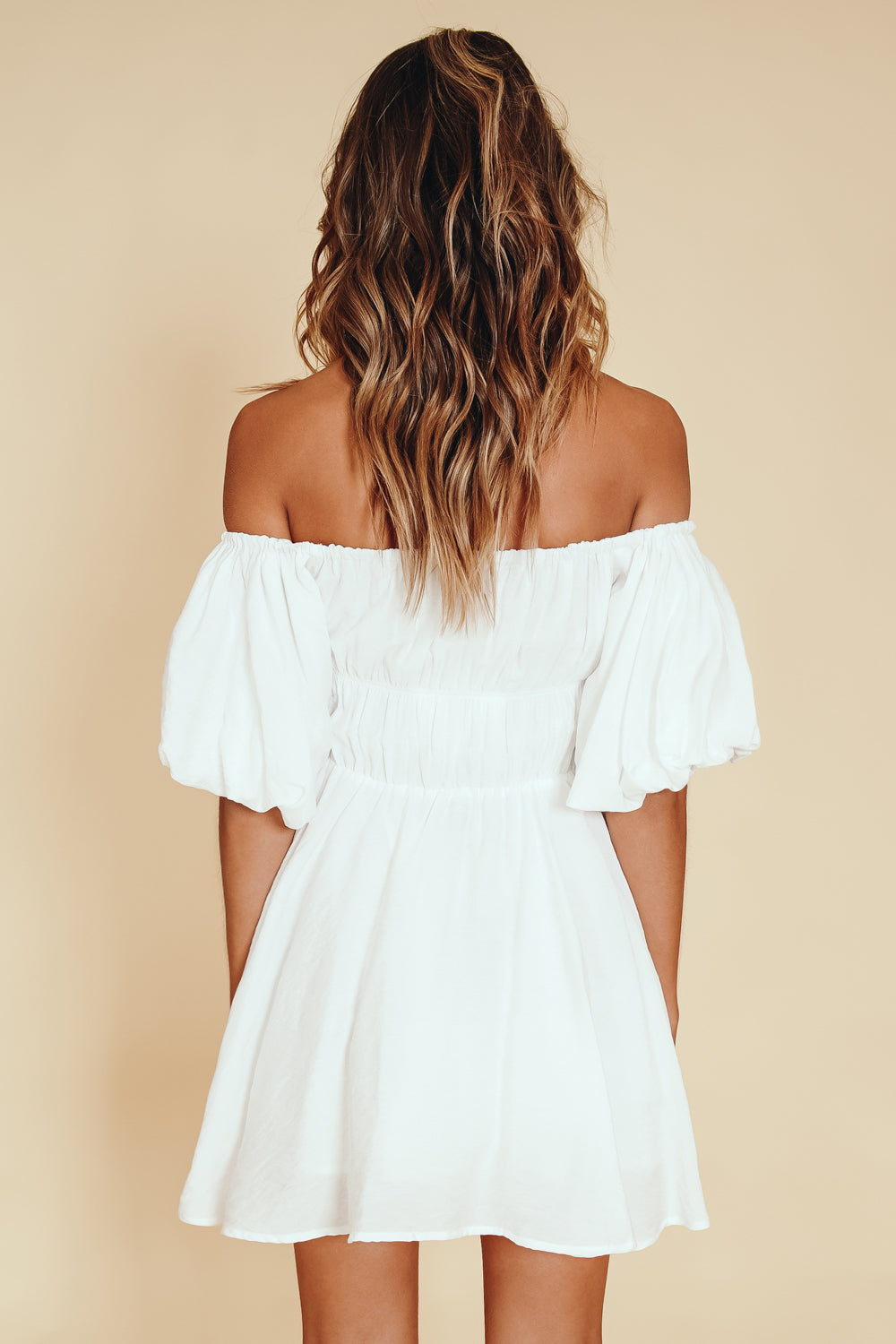 Paris Is Calling Mini Dress // White