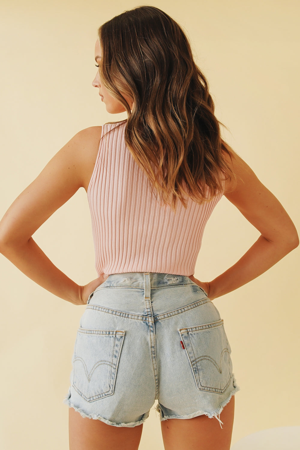 Our Town Knit Top // Pink