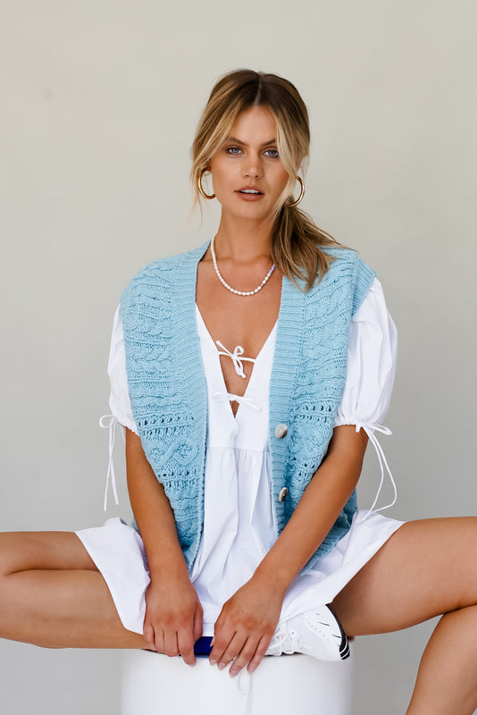 Endless Possibilities Knit Vest // Sky