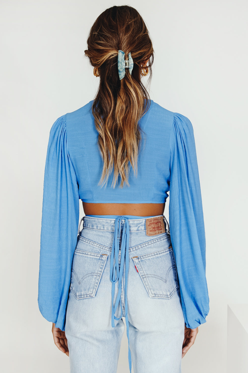 Feels Like A Holiday Tie Top // Blue