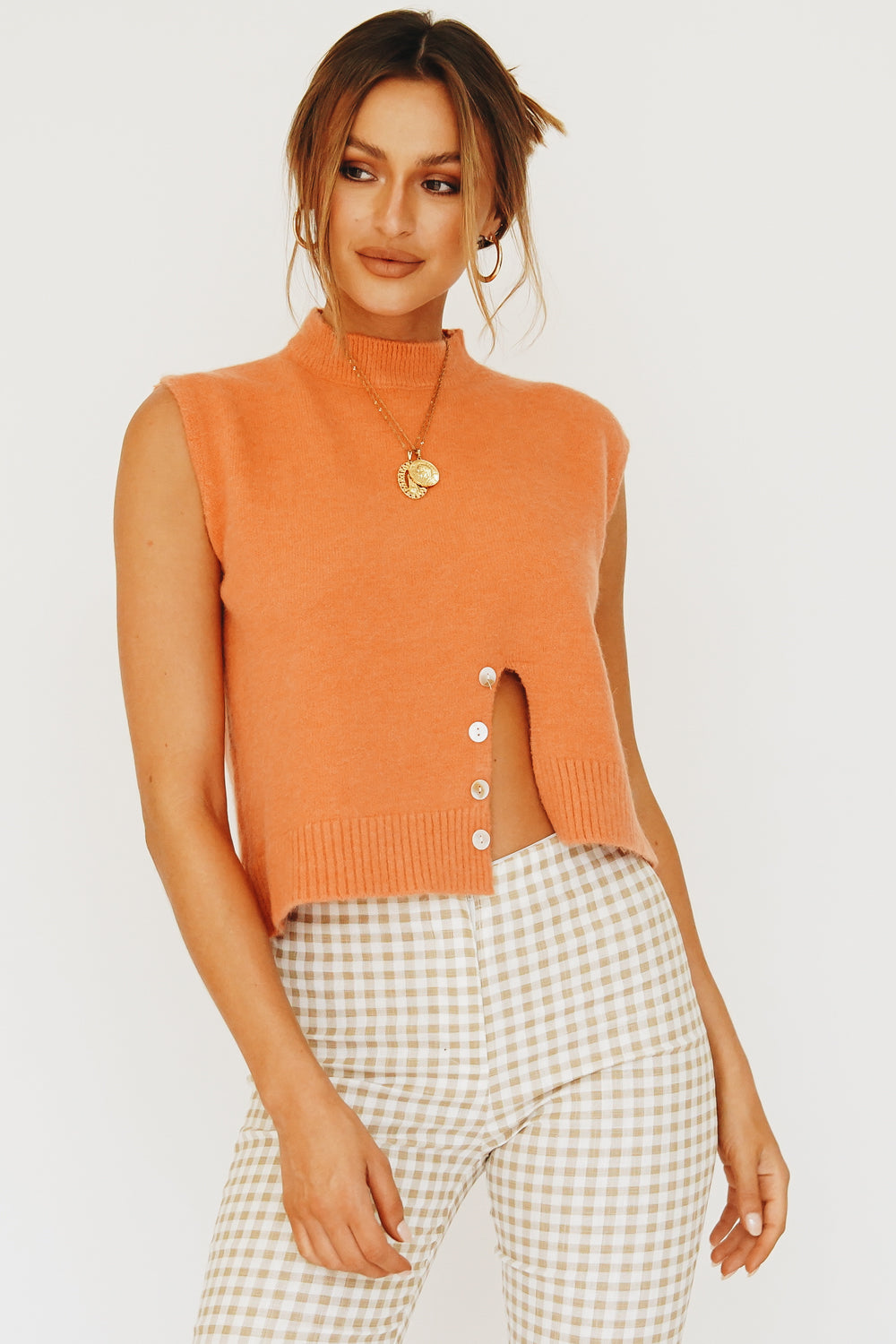 Taking The Lead Knit Top // Orange