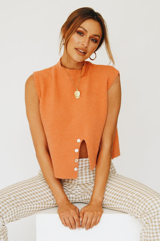 Taking The Lead Knit Top // Tangerine