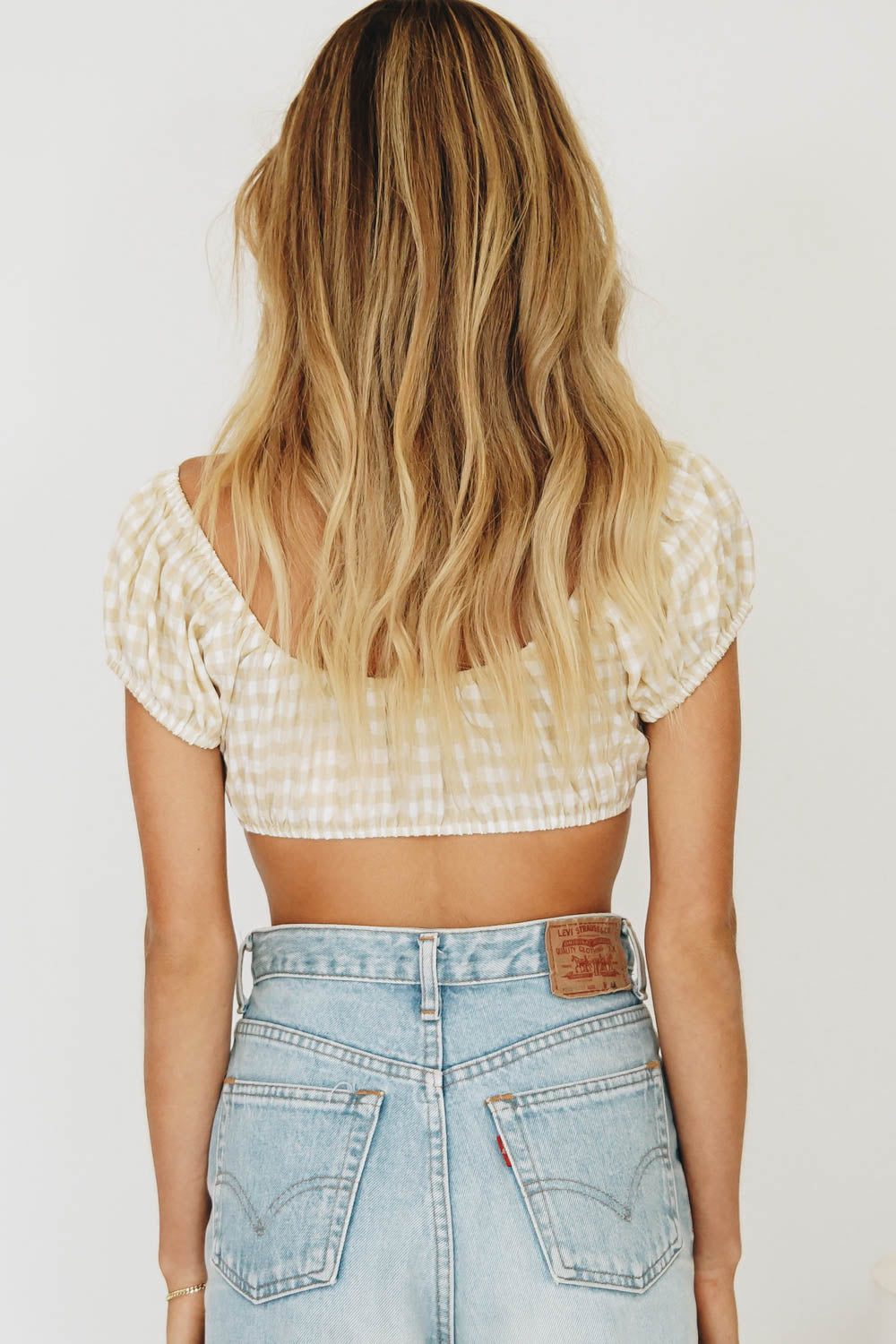 VRG GRL French Kiss Check Crop // Nude