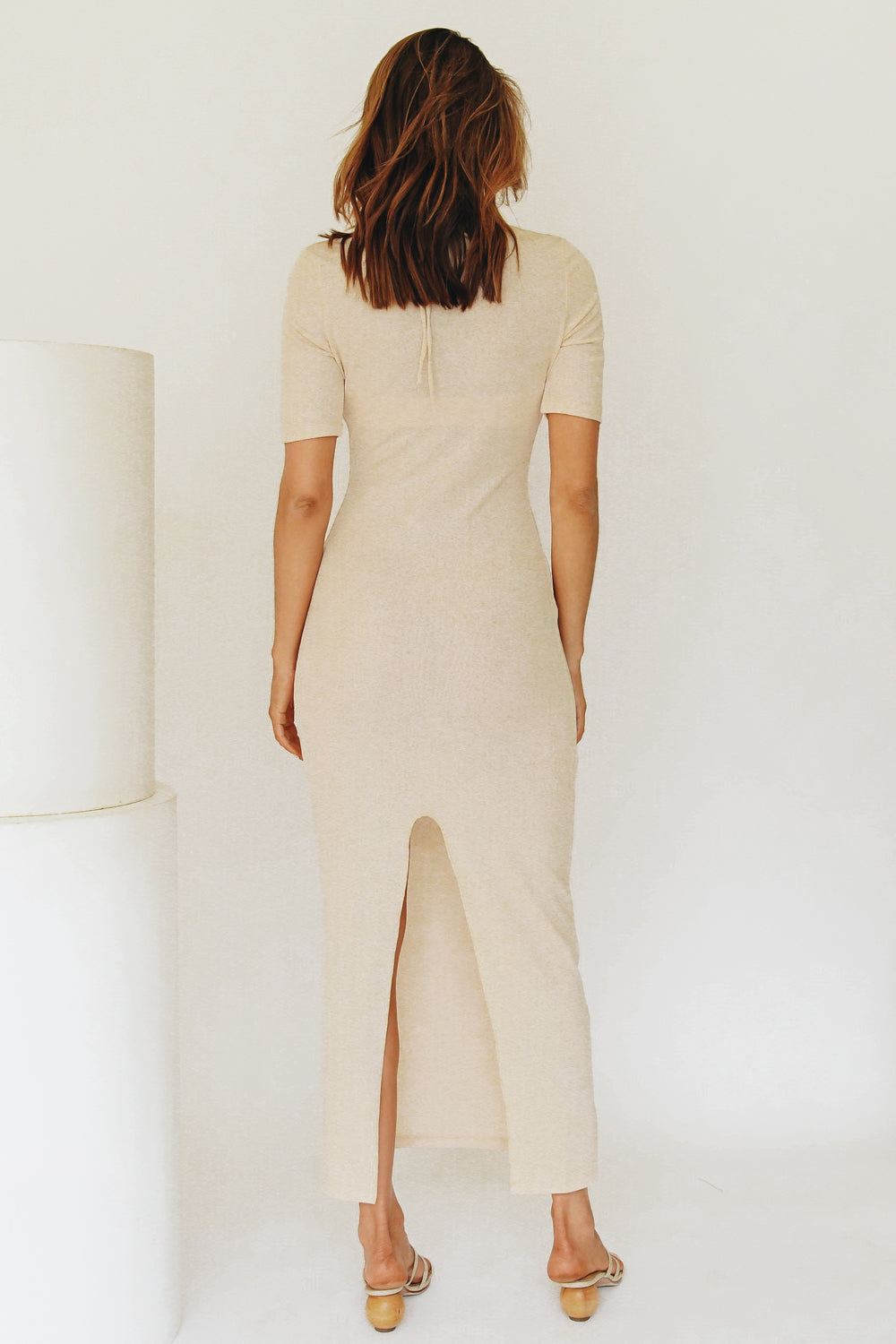 Summer Issue Knit Midi Dress // Natural