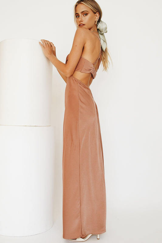 From The Top Midi Dress // Rose