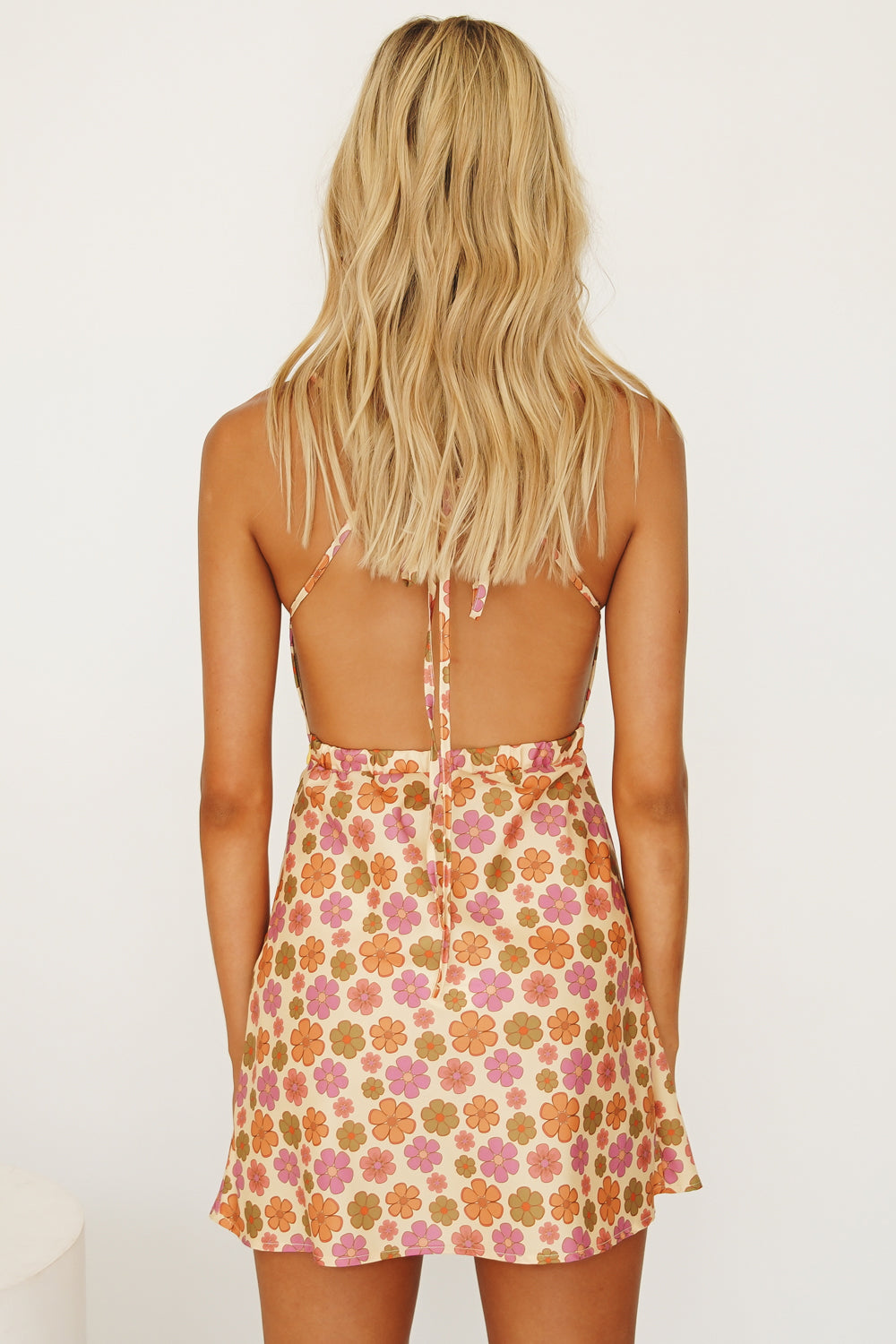 Her Magic Tie Back Mini Dress // Floral